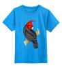 """Детская футболка классическая унисекс """"Попугайчик"""" - арт, дизайн, птицы, природа, попугай"""