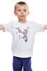 """Детская футболка классическая унисекс """"Японская сакура"""" - цветы, вишня, иероглифы, сакура"""