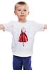 "Детская футболка ""Red skirt, red lips"" - красный, мода, fashion, красная юбка"