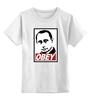 """Детская футболка классическая унисекс """"Путин OBEY"""" - россия, путин, президент, swag, putin"""
