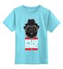 """Детская футболка классическая унисекс """"Pug x Run Dmc"""" - pug, хип-хоп, мопс, run dmc"""