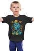 """Детская футболка классическая унисекс """"Чеширский Кот"""" - алиса в стране чудес, чеширский кот, улыбающийся кот"""