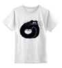 """Детская футболка классическая унисекс """"котэ-сумка"""" - котята, смешной кот, black cat, чёрный кот"""
