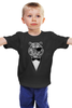 "Детская футболка классическая унисекс ""Одноглазый Тигр"" - бабочка, смокинг, tiger, тигр, джентльмен"