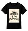 """Детская футболка классическая унисекс """"летчик"""" - арт, авторские майки, звезда, самолет, солдат, путешествие, военный, пилот, эскадрилия"""