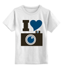 """Детская футболка классическая унисекс """"Я люблю Фото (Селфи)"""" - foto, фотоаппарат, селфи, selfie, фотки"""