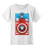 """Детская футболка классическая унисекс """"Капитан Америка. Винтаж"""" - comics, marvel, poster, марвел, vintage, капитан америка, captain america"""