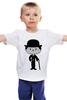 """Детская футболка классическая унисекс """"Чарли Чаплин"""" - charlie chaplin, чарли чаплин"""