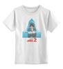 "Детская футболка классическая унисекс ""Jaws / Челюсти"" - челюсти, акула, афиша, kinoart, jaws"