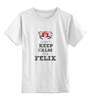 "Детская футболка классическая унисекс ""Keep Calm"" - keep calm, snow white"