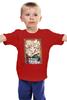 """Детская футболка """"Символ нового 2015 года – Кудрявая Овечка"""" - happy new year, новый год, winter, зима, дом, семья, снег, 2014, барашек, баран"""