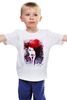 """Детская футболка классическая унисекс """"Marilyn Manson"""" - портрет, акварель, менсон, marilyn, manson"""