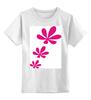 """Детская футболка классическая унисекс """"розовые цветы"""" - купить, сумку"""