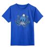 """Детская футболка классическая унисекс """"Осьминог Морячок"""" - octopus, осьминог, sailor, моряк, тельняшка"""