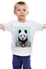 """Детская футболка классическая унисекс """"Деловая панда"""" - медведь, мишка, панда, panda, крутая"""