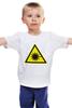 """Детская футболка """"Осторожно излучение лазера"""" - осторожно, лазерноеизлучение"""