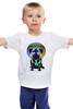 """Детская футболка """"Диджей Мопс"""" - pug, диджей, мопс"""