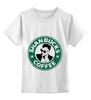 """Детская футболка классическая унисекс """"Shanbucks coffee"""" - 30 seconds to mars, 30 секунд до марса, альтернативный рок, шеннон лето, shannon leto"""