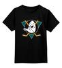 """Детская футболка классическая унисекс """"Mighty ducks"""" - nhl, нхл, anaheim ducks, хоккейный клуб"""