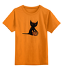 """Детская футболка классическая унисекс """"""""HALLOWEEN"""""""" - праздник, кошка, хэллоуин, осень, тыква, октябрь"""