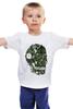"""Детская футболка классическая унисекс """"Череп"""" - череп, авторские майки"""