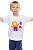 """Детская футболка """"Лев-фокусник"""" - бабочки, лев, чудеса, фокус"""