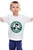 "Детская футболка классическая унисекс ""Shanbucks Coffee"" - кофе, coffee, 30stm, starbucks, эшелон, старбакс, shannon leto, shanbucks"