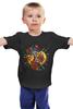 """Детская футболка классическая унисекс """"lantern/"""" - олд скул, огонь, птица, роза, пламя, фонарь, tm kiseleva"""