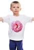 """Детская футболка классическая унисекс """"Розовый бутон"""" - лето, цветы, розовый"""