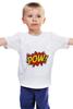 """Детская футболка классическая унисекс """"Pooow!"""" - boom, pop art, pow, blast"""