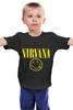 "Детская футболка классическая унисекс ""нирвана"" - музыка, гранж, nirvana, kurt cobain, курт, нирвана, кобейн"