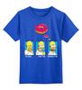 """Детская футболка классическая унисекс """"Homer Simpson & Donut"""" - симпсоны, гомер симпсон, the simpsons, donut"""