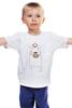 """Детская футболка классическая унисекс """"Мишка Бо фотограф"""" - мишка, фото, белая, фотоаппарат, фотограф"""