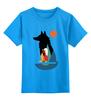 """Детская футболка классическая унисекс """"Девочка и Волк"""" - girl, волк, wolf"""