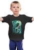 """Детская футболка классическая унисекс """"Art Horror"""" - skull, череп, crow, ворон, тьма"""