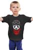 "Детская футболка ""Soviet panda"" - звезда, панда, panda, пилот"