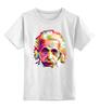 "Детская футболка классическая унисекс ""Альберт Эйнштейн (Albert Einstein)"" - albert einstein, физика, полигоны, polygons, альберт эйнштейн"