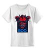 """Детская футболка классическая унисекс """"Boo                                           """" - страх, ужас, дьявол, черт, boo"""