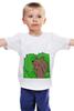 """Детская футболка """"Медведь из кустов"""" - медведь, распутница, медведь из кустов, блудница"""