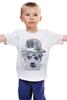 """Детская футболка классическая унисекс """"Charlie Chaplin"""" - акварель, charlie chaplin, чарли чаплин"""