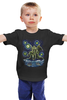 """Детская футболка классическая унисекс """"Ктулху"""" - ктулху, ван гог, осьминог, звёздная ночь, cthulhu"""