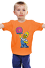 """Детская футболка """"Гомер с Пончиком"""" - симпсон, гомер, пончик, the simpsons, donut"""