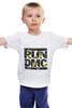"Детская футболка классическая унисекс ""RUN DMC"" - rap, цветы, нью-йорк, хип-хоп, run, dmc, nyc, run dmc, ран ди-эм-си"