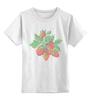 """Детская футболка классическая унисекс """"Земляника """" - summer, berries, вышивка, земляника"""