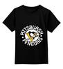 """Детская футболка классическая унисекс """"Pittsburgh Penguins"""" - мужская, парню"""