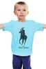 """Детская футболка классическая унисекс """"the polo"""" - скелет, polo, polo cholo, cholo"""