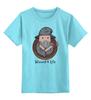"""Детская футболка классическая унисекс """"wizard for life"""" - adventure time, волшебник, колдун, маг, чародей"""