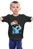 """Детская футболка классическая унисекс """"deal with it"""" - pony, rainbow dash, mlp, дэш, радуга дэш"""