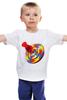 """Детская футболка классическая унисекс """" ЮЛА"""" - радуга, яркая, летняя, spintop"""