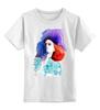 """Детская футболка классическая унисекс """"Girl In Colors"""" - девушка, цветное"""